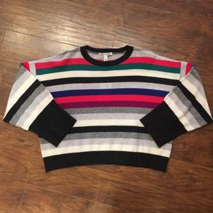 Autumn Cashmere Boxy Striped Sweater NWT